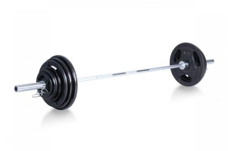 Steel Olympic Bar with Weights
