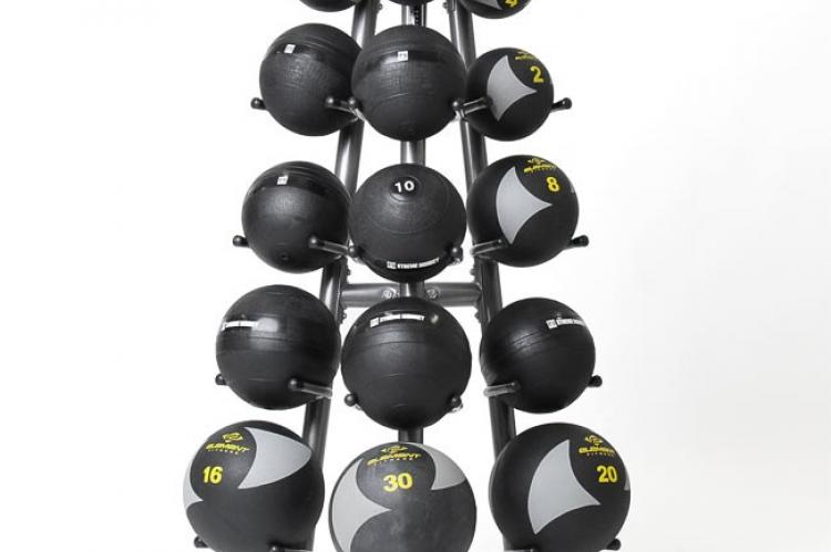 Element Fitness Medicine Ball Rack 15