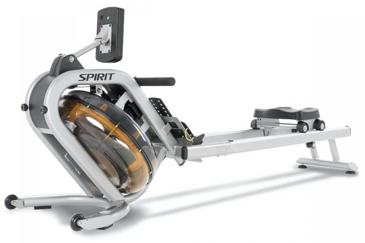 Spirit Fitness CRW800H2O Water Rower - Rear View