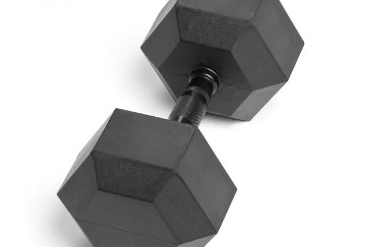 Virgin Rubber Hex Dumbbell