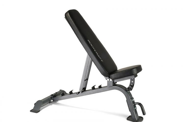 F605 Utility Bench front side view in incline position