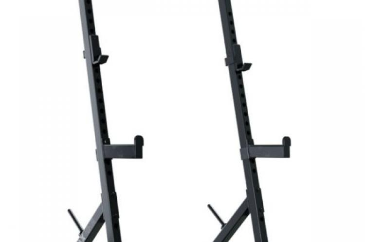Ironx Half Rack view from the Front Right side without any bars or plates