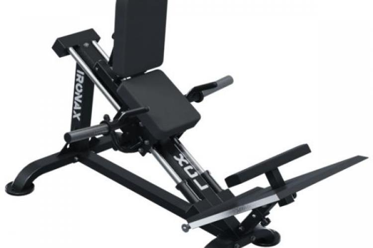 IRONAX XCL Compact Leg Sled front side view without weights
