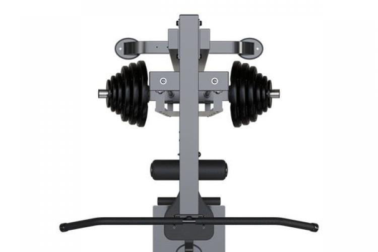 IRONAX XLA Lat Machine view from the top with weights
