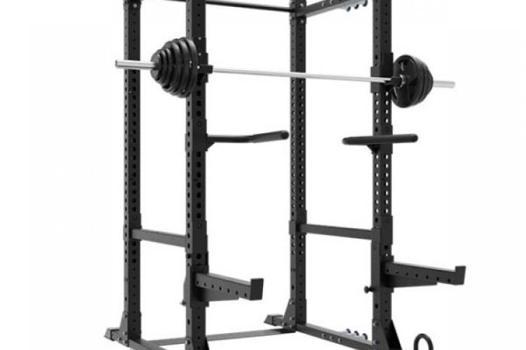 XM Omega Rack with a bar and weights