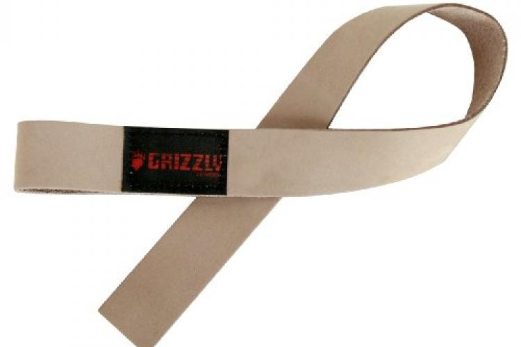 Grizzly Fitness Leather Weight Lifting Straps