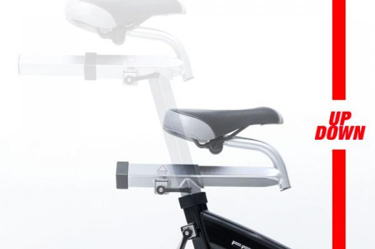 Frequency Fitness M50 Magnetic Indoor Cycle how the seat moves