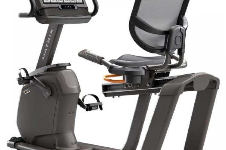Matrix R30 Recumbent Bike with XIR Console back view