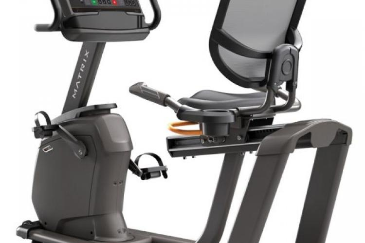 Matrix R30 Recumbent Bike with XR Console primary back view
