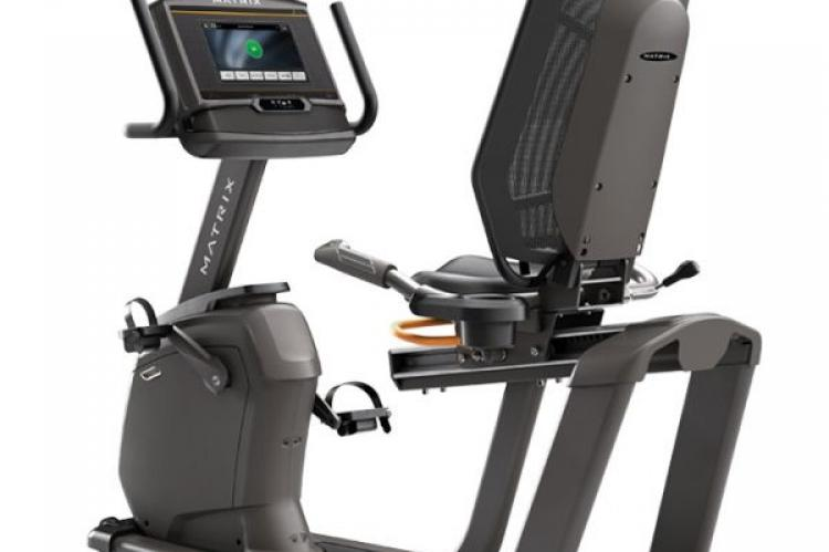Matrix R50 Recumbent Bike with XER Console back view