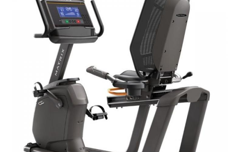 Matrix R50 Recumbent Bike with XR Console back view