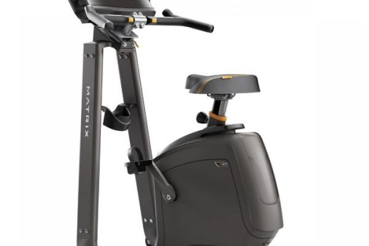 Matrix U30 Upright Exercise Bike with XIR Console from the back
