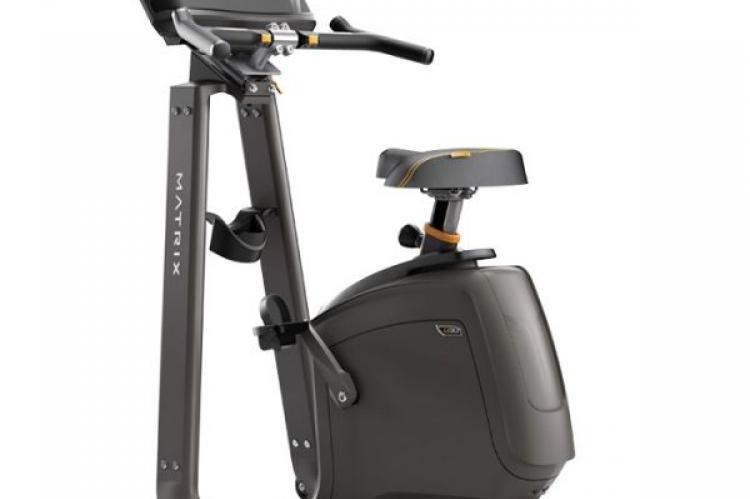 Matrix U30 Upright Exercise Bike with XR Console back view