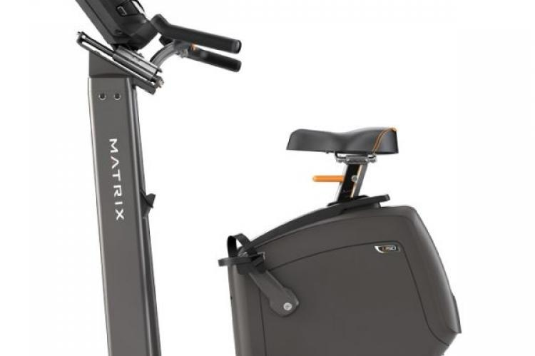 Matrix U50 Upright Exercise Bike with XR Console side view