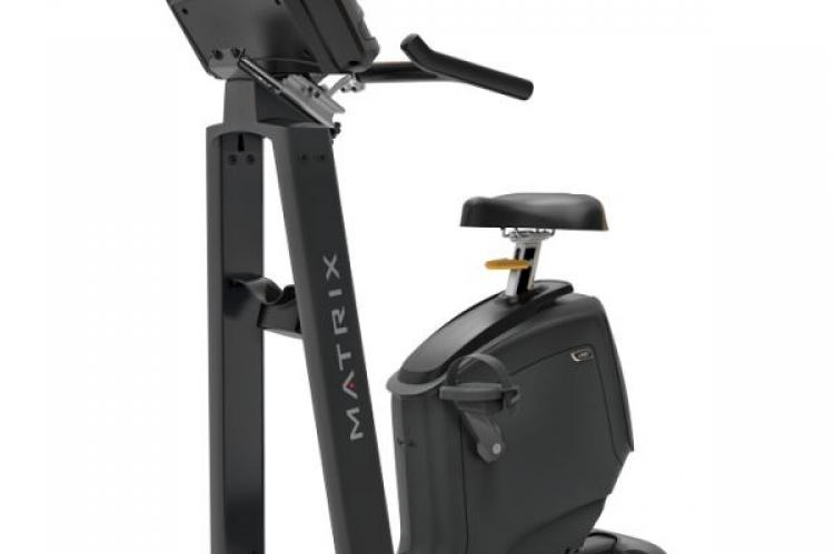 Matrix U50 Upright Exercise Bike with XR Console from the front