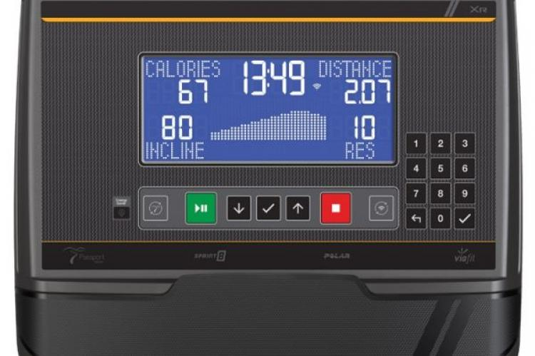 The console of Matrix U50 Upright Exercise Bike with XR Console