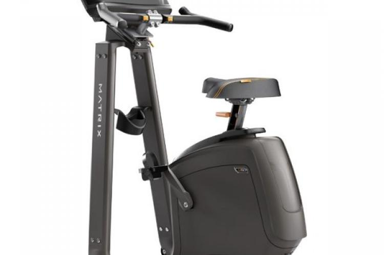 Matrix U50 Upright Exercise Bike with XR Console back view