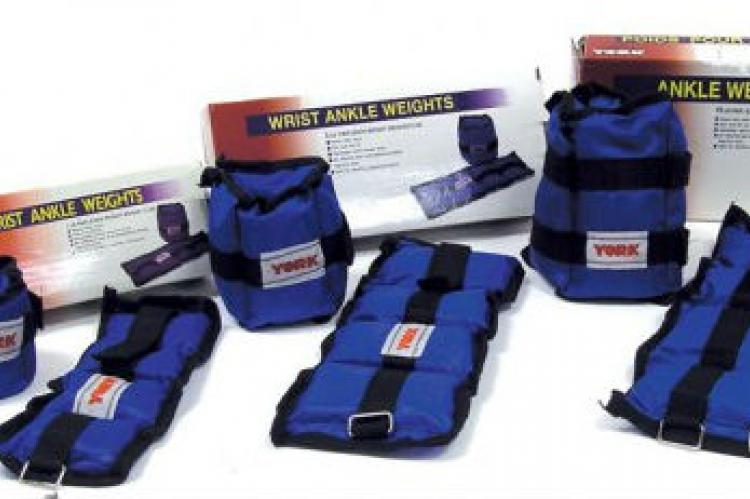 York Fitness Wrist and Ankle Weights - 10 lb Pair